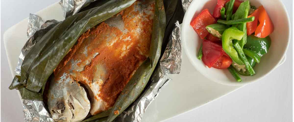 Recipe Blast Grilled Pompano With Banana Leaf