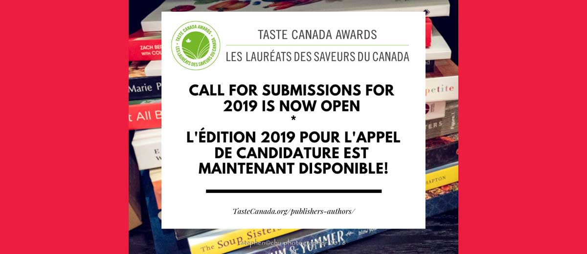Taste Canada Accepting Submissions for 2019 Award Show - Foodservice